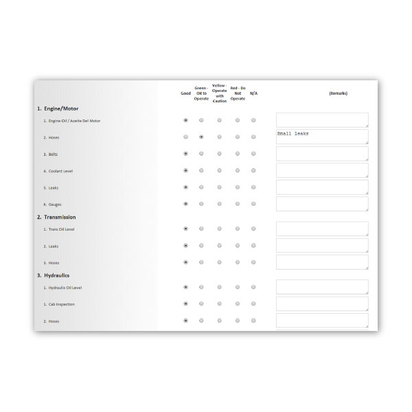 Inspection Rapid Entry Form